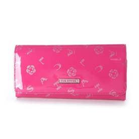 ラミ フラップ長財布 (ピンク)