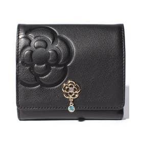 リュンヌ 二つ折りBOX財布 ブラック