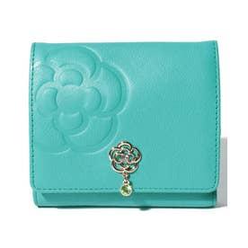 リュンヌ 二つ折りBOX財布 グリーン