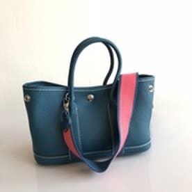 牛革製トートバッグ mini (ブルー)