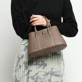 牛革製トートバッグ mini (ブラウングレー)