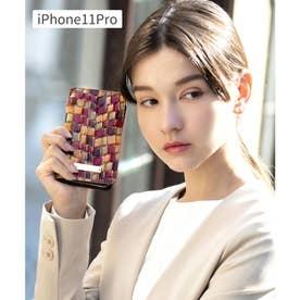 【CLAIRE】ステンドグラスイタリアンレザーiPhoneケース (ブラウン)
