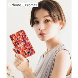 【CLAIRE】ステンドグラスイタリアンレザーiPhoneケース (ピンク)