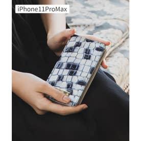 【CLAIRE】ステンドグラスイタリアンレザーiPhoneケース (ブルー)