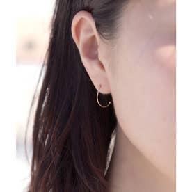 【CLAIRE】【K10】片耳カットワイヤーシングルイヤーフープピアス (イエローゴールド)