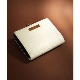 【CLAIRE】リザードレザーがま口財布 (オフホワイト)