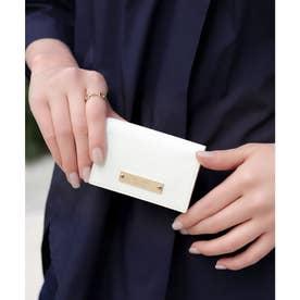【CLAIRE】リザードミニマムウォレット/カードケース (オフホワイト)