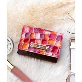 【CLAIRE】ステンドグラスミニマムウォレット/カードケース (ピンク)