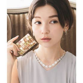【CLAIRE】ステンドグラスミニマムウォレット/カードケース (ベージュ)