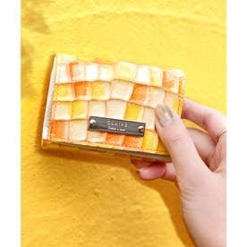 【CLAIRE】ステンドグラスミニマムウォレット/カードケース (イエロー)