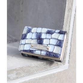 【CLAIRE】ステンドグラスミニマムウォレット/カードケース (ブルー)