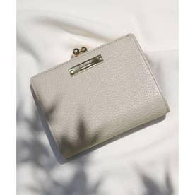 【CLAIRE】イタリアンレザー無地シュリンクがま口財布 (サンドグレー)