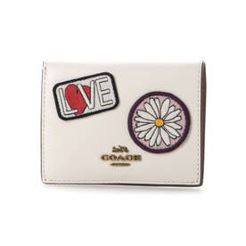【Coach(コーチ)】Coach Small Snap Wallet with patchコラボ 二つ折り財布 コインケース 二つ折り財布 ワッペン (オフホワイト系)