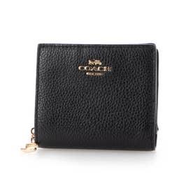 ショップ袋付き 二つ折り財布  (ブラック)