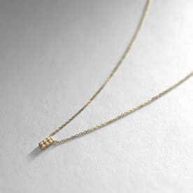 K18ダイヤモンド トゥーライン ネックレス小 (イエローゴールド)