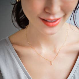 K18ダイヤモンド トゥーライン ネックレス大 (イエローゴールド)