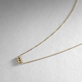 K18ダイヤモンド 透かしレクタングル ネックレス大 (イエローゴールド)