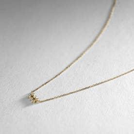K18ダイヤモンド 透かしレクタングル ネックレス小 (イエローゴールド)