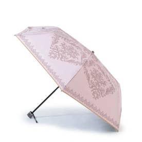 ダマスク柄アンブレラ(折りたたみ) (ピンク)