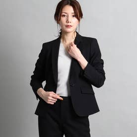 【洗える/スーツ】美シルエットテーラードジャケット (ブラック)
