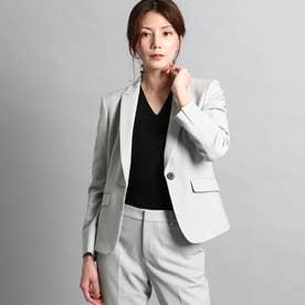 【洗える/スーツ】美シルエットテーラードジャケット (ライトグレー)