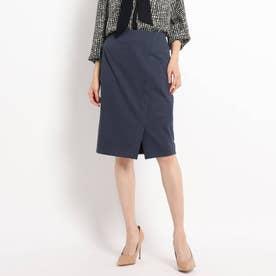 【WEB限定カラーあり/洗える/セットアップ対応】フロントスリット ポンチタイトスカート (ディープグレー)