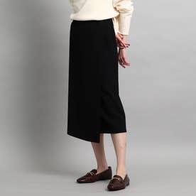 【洗える/セットアップ対応】ダンボールラップ風スカート (ブラック)