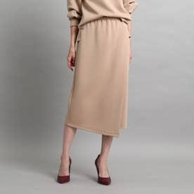 【洗える/セットアップ対応】ダンボールラップ風スカート (ナチュラル)