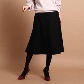 リールスムースミモレ丈スカート (ブラック)