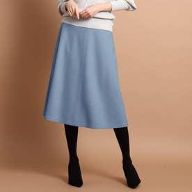 リールスムースミモレ丈スカート (ブルー)