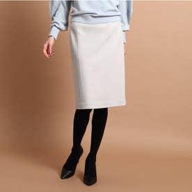 【スーツ】オムニジャージ ミモレタイトスカート (ライトグレー)