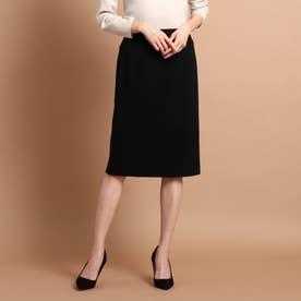 【スーツ】オムニジャージ ミモレタイトスカート (ブラック)