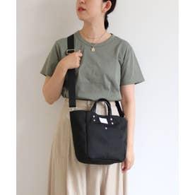 多ポケット2wayミニトートバッグ (ブラック)