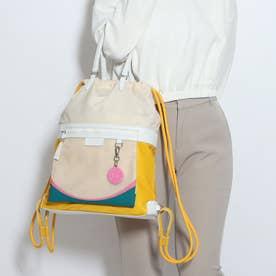 ラディアント ナイロン ドローストリング バックパック womens (ホワイト キャップ / ゴールデン ロッド)