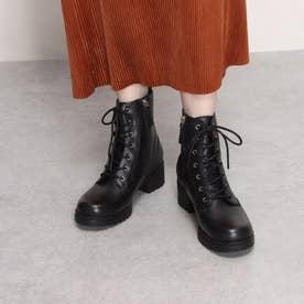 カメア ウォータープルーフ コンバット ブーツ womens (ブラック ウォータープルーフ レザー)
