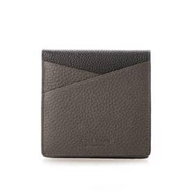 カラーブロック フォールテッド カード ケース mens (グレー / ブラック)