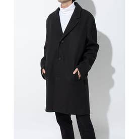 ストレッチ ウール コート mens (ブラック)