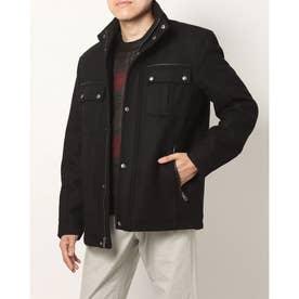 スタンド カラー ジャケット mens (ブラック)