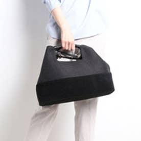 【INTER-CHAUSSURES】サマーツイード 2wayバッグ (ブラックコンビ)