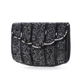 ●ビース刺繍クラッチ (ブラック)