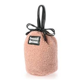 トートバッグ レディース バーバパパ ボア 巾着 トート コラボ (ピンク)