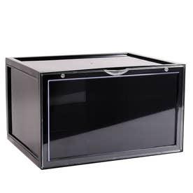 Magical SHOES BOX マジカル シューズボックス スニーカー収納 靴 収納 ボックス 横型 (ブラック)