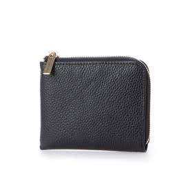 ミニ財布 レディース 本革 プチプラ (ブラック)