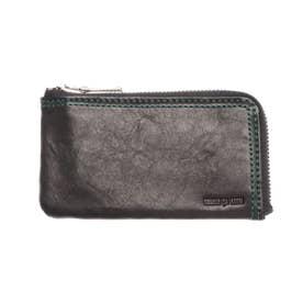 ラミ L字ファスナーコンパクト財布 フラグメントケース 小銭入れ (ブラック)