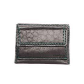 ラミ 薄コンパクト財布 フラグメントケース パスケース (ブラック)