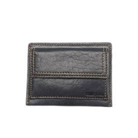 ラミ 薄コンパクト財布 フラグメントケース パスケース (ネイビー)