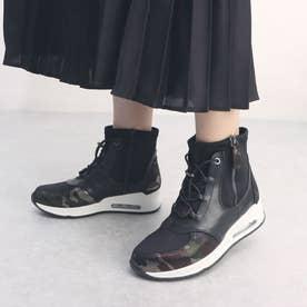 サイドジッパー ストレッチ ハイカット スニーカータイプ ブーツ (カモフラージュ)