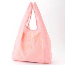 〔モノコムサ〕 〈ポケッタブル〉コンパクト エコバッグ (ピンク)