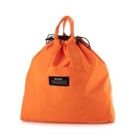 〔モノコムサ〕 〈2way〉カラー 巾着 リュック (オレンジ)