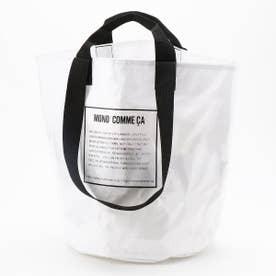 〔モノコムサ〕 2WAY PVC素材バッグ (ホワイト)